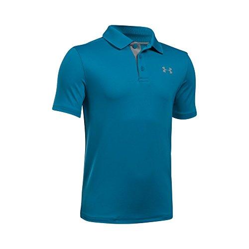 Under Armour Boys' Match Play Polo Shirt, Urban Blue/Urban Blue, Youth Large
