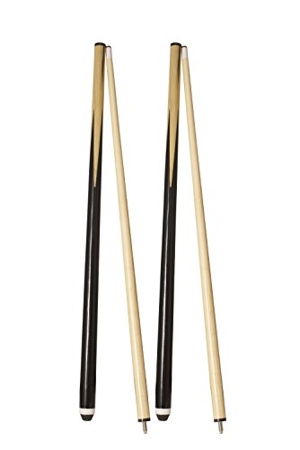 (Transcend United Pack of Two Billiard CUE 58-INCH 2-Piece Hardwood Pool CUE Stick with Steel Joint)
