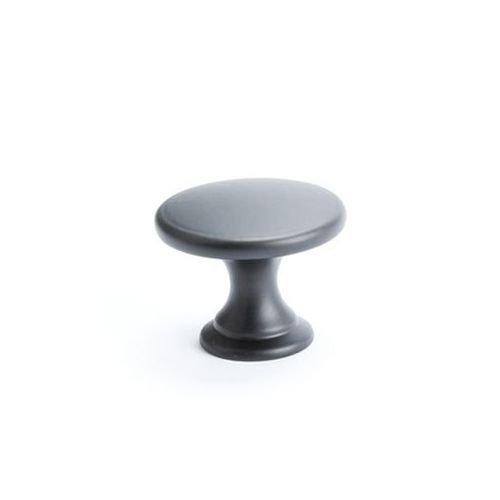 1-3//4 Diameter Berenson Alto Mushroom Cabinet Knob Matte Black