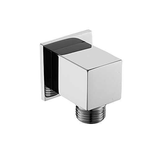 Weirun Brass Modern Bathroom Square Shower Hose Connector 1/2