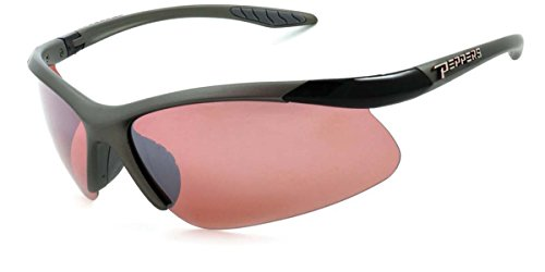 (Peppers Polarized Sunglasses Richochet Matte Satin Grey with Rose Lens MP269-41)
