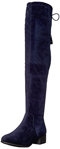Prissley Madden Girl Riding Velvet Boot Navy Women's xw6HEPzw