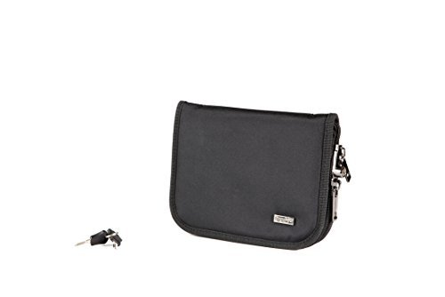 Supertool Sub-Compact (6 x 8 inch) Pistol Case with MagLock Magnetic Lining System and Locking Zipper (Ballistic (Locking Zipper)