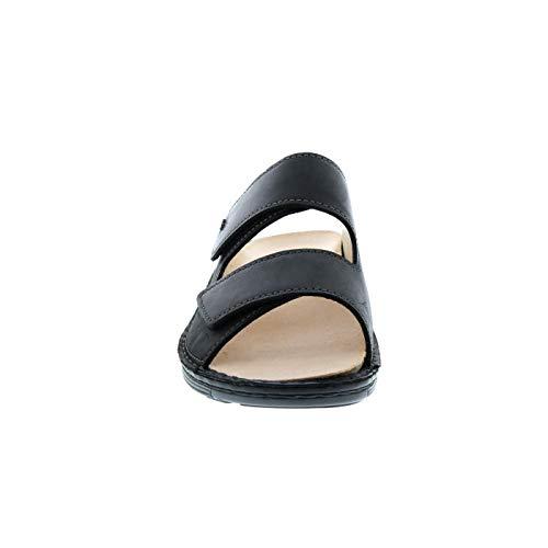 1420 Cuero Negro 615099 Para Zuecos Finn Hombre Comfort De FC5qqz