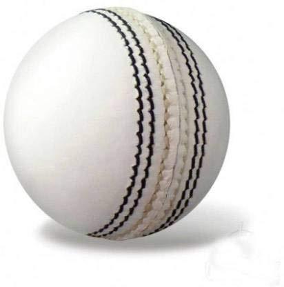 Nikson Leather Cricket Ball, Size M  White