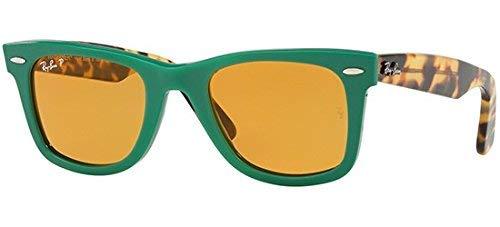 unisex de HAVANA YELLOW WAYFARER Sol BLONDE Ray ORIGINAL RB 2140 Gafas Ban GREEN Spq7RR