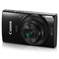 Canon IXUS 190 20 MP Digital Camera with 10x Optical Zoom, Memory Card And Camera Case (Black)