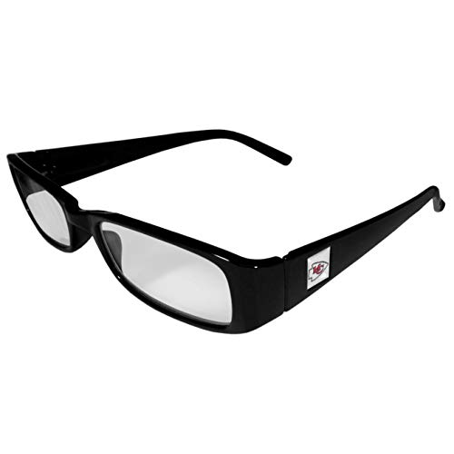 NFL Kansas City Chiefs Reading +1.25 Glasses, Black