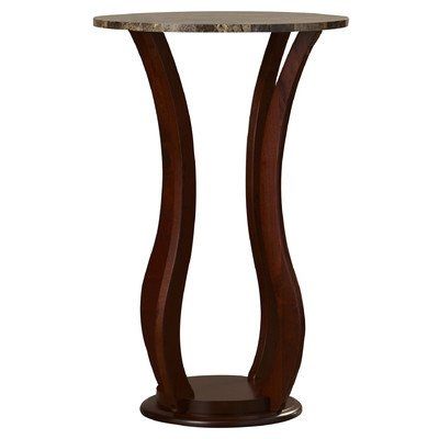 Pedestal Plant Stand Faux Marble Top Solid Wood Flower Home Decor Indoor Furniture NEW ()