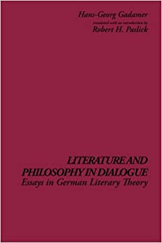 com literature and philosophy in dialogue essays in  literature and philosophy in dialogue essays in german literary theory s u n y series in contemporary continental philosophy