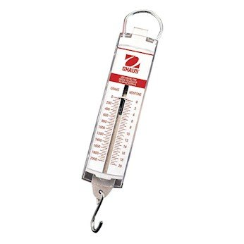 Ohaus 8008-MN Pull-Type Hanging Spring Scales, 5000g x 100g, and 50N x 1N