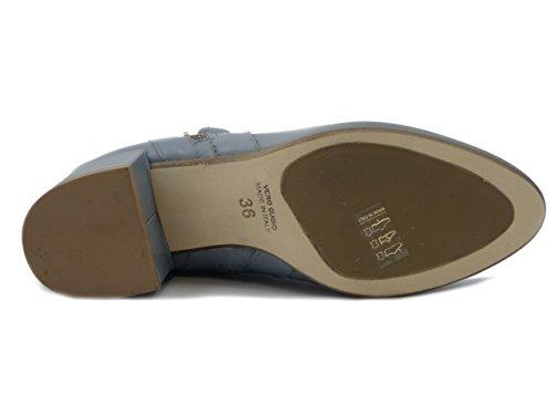 Tacco E17 Pericoli tse05 Antiscivolo 5cm Suola Jeans Stivaletto Osvaldo Colore In Pelle E xf7Yq7CRwd