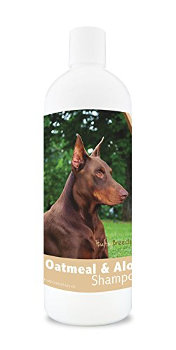 Doberman Pinscher Dog Breed - Healthy Breeds Dog Oatmeal Shampoo with Aloe for Doberman Pinscher - Over 75 Breeds – 16 oz - Mild and Gentle for Itchy, Scaling, Sensitive Skin – Hypoallergenic Formula and pH Balanced