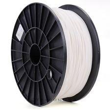 3D Printer Filament White PLA 1.75 mm 2.2 lb Spool, Dimensional Accuracy +/- 0.05 mm
