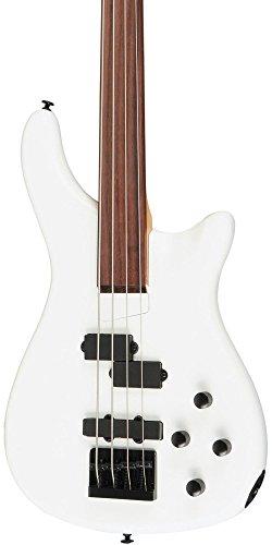 Rogue LX200BF Fretless Series III Electric Bass Guitar Pearl White image