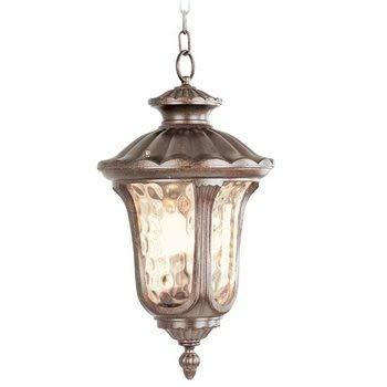 (Livex Lighting 7658-50 Oxford 3 Light Outdoor Hanging Lantern, Moroccan Gold)