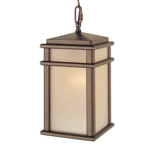 Corinthian Bronze Pendant - Feiss Mission Lodge Outdoor Pendant Light OL3411CB-LED Corinthian Bronze