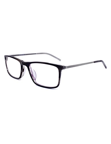 - Ultra Light Rectangle Lens Slim Temple Acetate Frame (Brown)