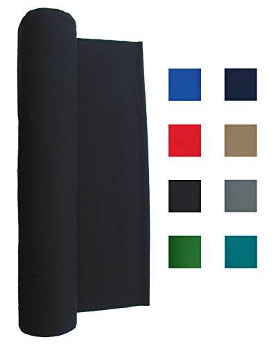 21 Ounce Pool Table Felt - Billiard Cloth - for a 9 Foot Table Black