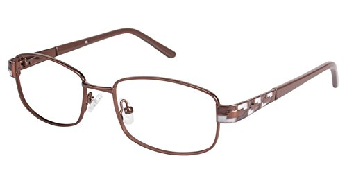 LAmy C By 521 Eyeglass Frames - Frame BROWN / BROWN, Size -