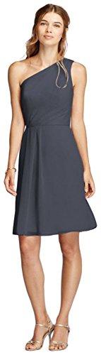 crinkle chiffon dress - 6