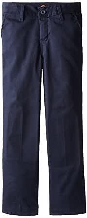Dickies Khaki Big Boys' Flex Waist Stretch Pant, Dark Navy, 8 Husky