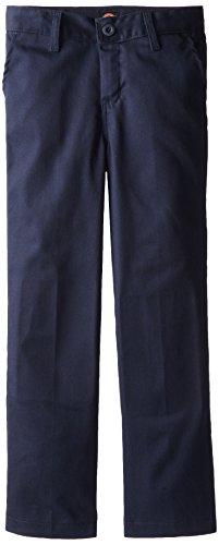 Dickies Khaki Little Boys' Flex Waist Stretch Pant, Dark Navy, 7 Regular