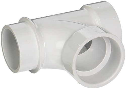 (Canplas 195151L PVC DWV Street Sanitary Tee, 1-1/2-Inch, White)