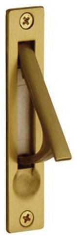 Baldwin 0465.060 Edge Pull, Satin Brass and - Plate Pull Baldwin Brass
