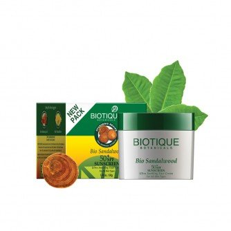 Biotique Bio Sandalwood 50+ SPF Sunscreen Ultra Soothing Face Cream For All S.