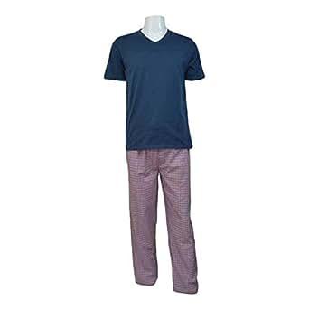 Reflex Pajama Set For Men - Medium, Navy Blue