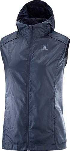 Salomon Women's Agile Wind Vest, Gray, X-Large
