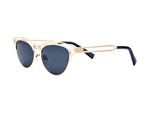 Hero Fashion personality metal sunglasses (Gold frame Black - Glasses Personality Versace