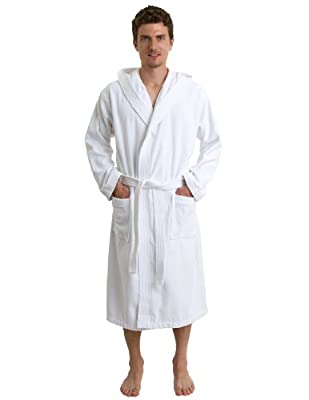TowelSelections Men's Robe, Hooded Terry Velour Cotton Bathrobe Made in Turkey