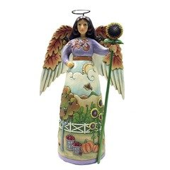 Jim Shore Thankful For This Day Angel Figurine