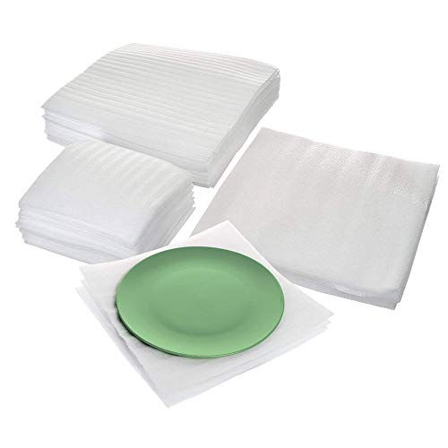 (Cushion Foam Sheet and Pouch Variety Bundle Pack (60 Pack), Packing Supplies for Moving, Wrapping Dishes, Glasses, Furniture Legs, by California Basics)