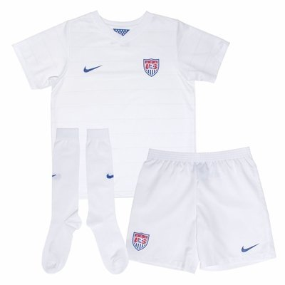 Nike USA Little Boys Home Kit World Cup 2014 [Football White] (XS)
