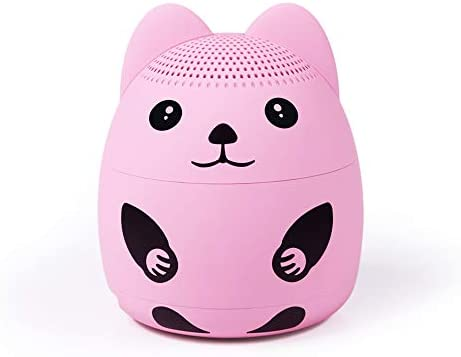 momoho Small Bluetooth Speaker – Mini Size but Great Sound Quality,up to 5 Hours Playtime,Photo Selfie Button Answer Phone Calls,BTS0019A Pink