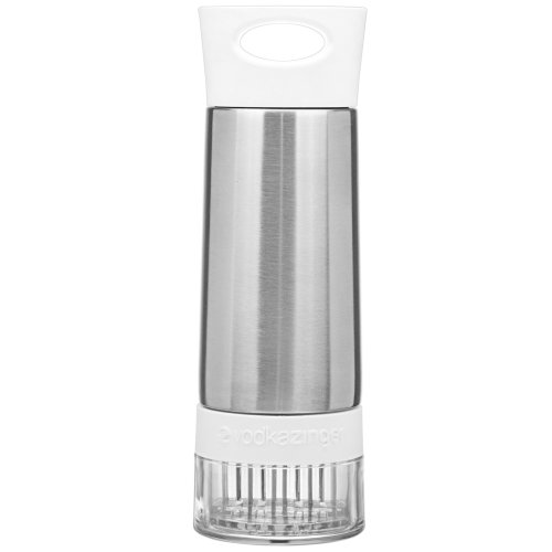 Cocktail Zinger by Zing Anything, Active Infusion, Stainless Steel Spirit Infuser, Food Grade 18/8 Stainless Steel, Healthy Cocktails, Dishwasher Safe, BPA/EA free Tritan Fruit Cup, 20 oz., White ()