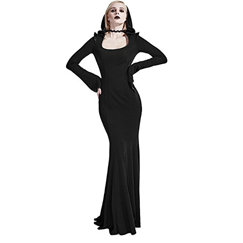 cdb677b15bd21 Long Black Gothic Dresses | #1 Top Best Long Black Gothic Dresses