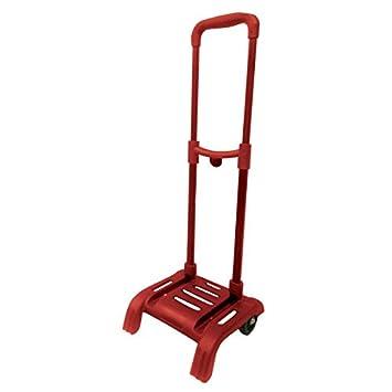 Carro portamochilas Plegable con luz en Ruedas para Mochila Grande Color Rojo: Amazon.es: Juguetes y juegos