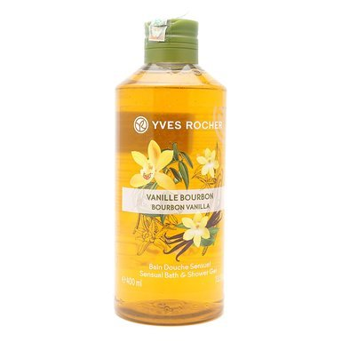 Yves rocher Bath & Shower GEL New Packing 400 ML (Bourbon Vanilla) (Shower Scented Gel Vanilla)