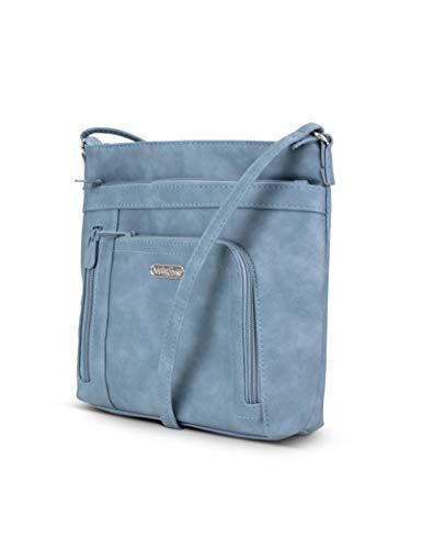 - MultiSac Summerville North South Mini Crossbody Bag, denim