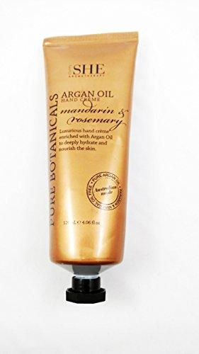 Mandarin Hand Cream (om SHE Aromatherapy Luxurious ARGAN OIL Hand Creme Mandarin & Rosemary 120 ml)