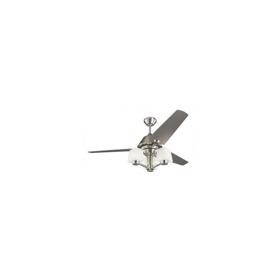 Monte Carlo Fan Company 3AXR52BS3 52 Apex Ceiling Fan in Brushed Steel