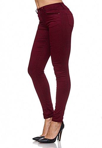 Donna A Lucido Bassa Chiaretto Skinny Treggings Elasticizzati Vita Jeans D2074 Pantaloni Zw8Y5