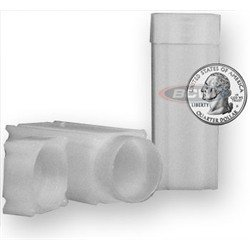 Quarter Coin Tubes - Square Quarter Coin Tube(Qty=10 Tubes)