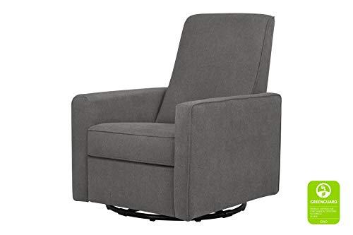 DaVinci Piper All-Purpose Upholstered Recliner and Swivel Glider, Dark Grey