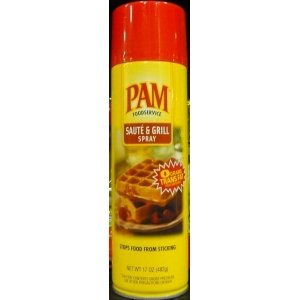 Pam Saute and Grill Spray, 17 Ounce, (pack of 6)