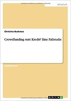Book Crowdfunding statt Kredit? Eine Fallstudie